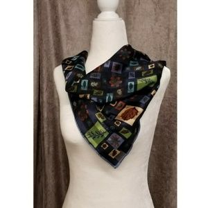 Echo Scarf Autumn Fall Leaves Blue Rust Green